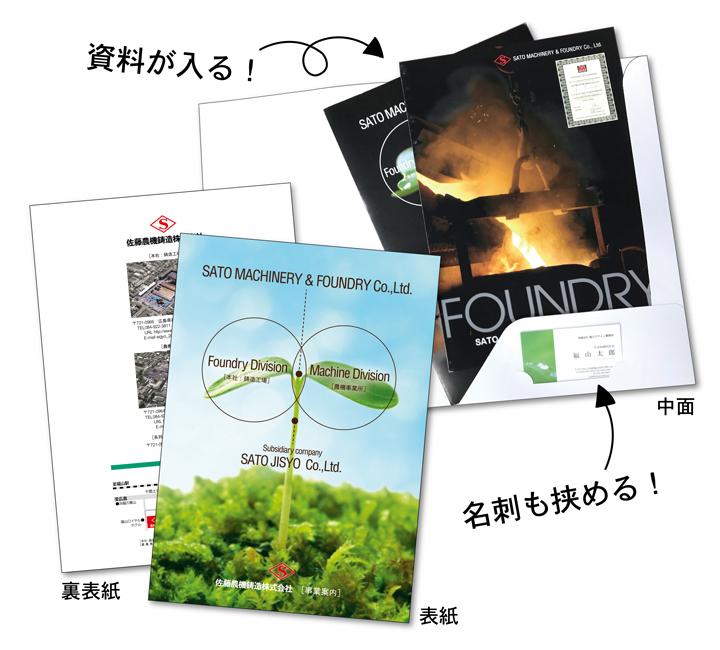 佐藤農機鋳造株式会社様 / A4ポケットフォルダー